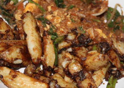 Salt & Pepper Chips and Singapore Noodles
