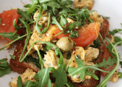 Scrambled Tofu on Toast – With A Kick