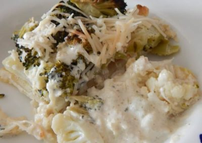 Creamy Broccoli and Cauliflower Bake