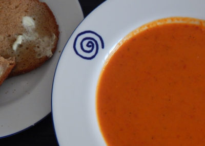 Red Pepper and Sweet Potato Soup